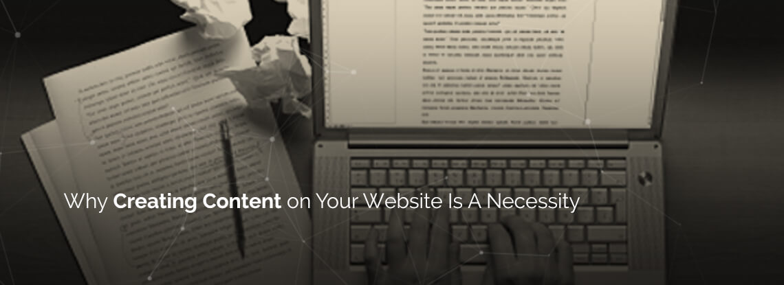 Creating content for website