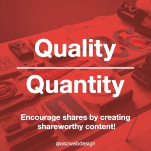 quality over quantity for domain authority