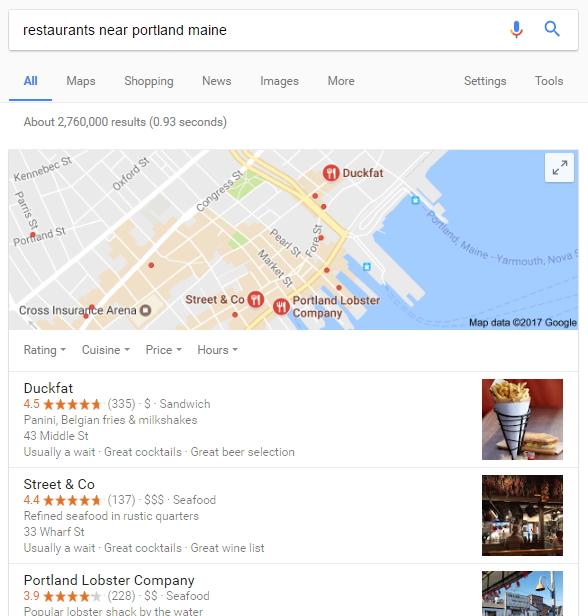 Rank higher in local search engine results with Google My Business.