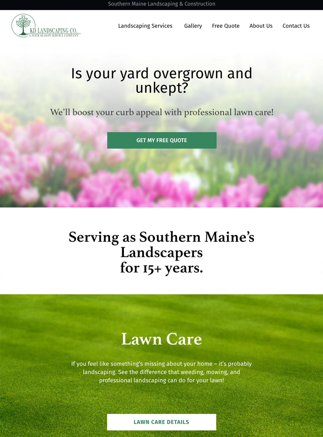RJT Construction & Landscaping Homepage