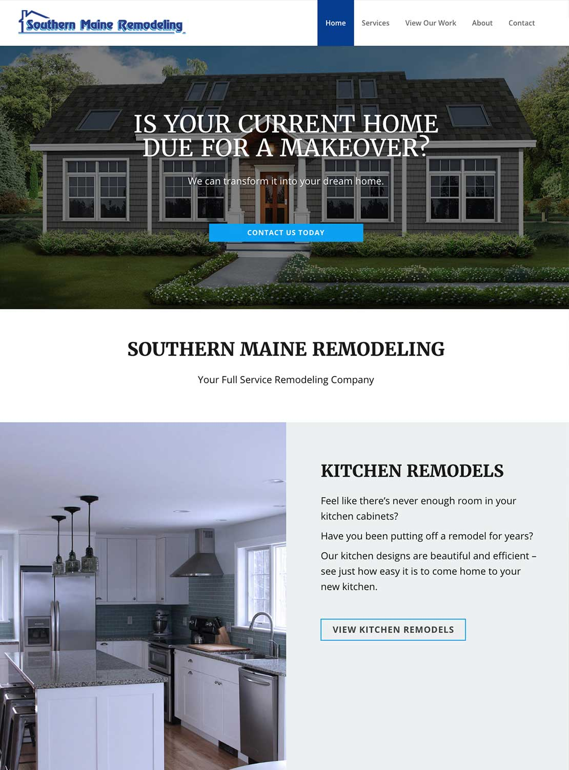 Southern Maine Remodeling Homepage