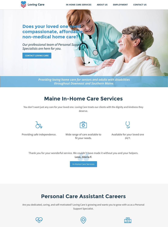 loving-care-maine-homepage - OSC Web Design